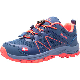 TROLLKIDS Sandefjord Hiker Low-Cut Schuhe Kinder midnight blue/coral
